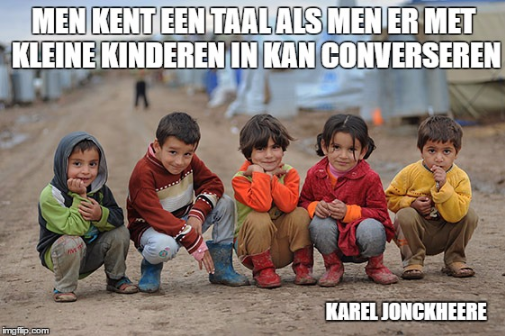 Men kent een taal quote Karel Jonckheere