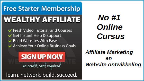 Cursus affiliate marketing website ontwikkeling