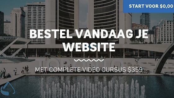 Start vandaag je website