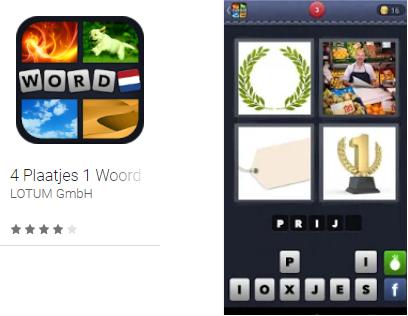 4 plaatjes 1 woord game app Lotum GmbH