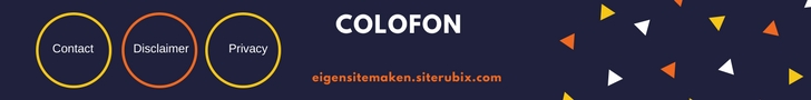 Colofon archief