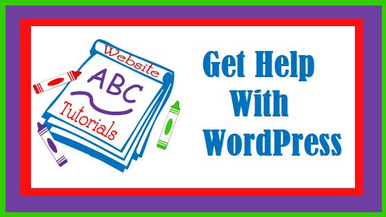 Get help with WordPress, website tutorials