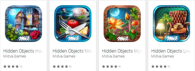 Verborgen voorwerpen midva games app