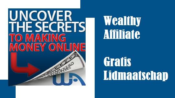 Wealthy Affiliate gratis Lidmaatschap