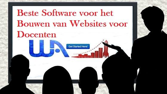 Beste Software voor het Bouwen van Websites voor Docenten