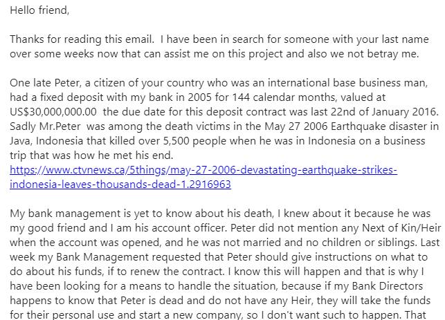 gewetenloze scammers