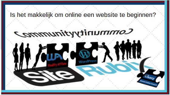 Makkelijk online website beginnen